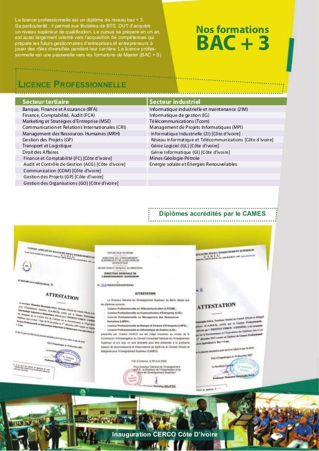Nos formationsBAC + 3LICENCE PROFESSIONNELLESecteur tertiaire Secteur industrielBanque, Finance et Assurance (BFA) Informa...