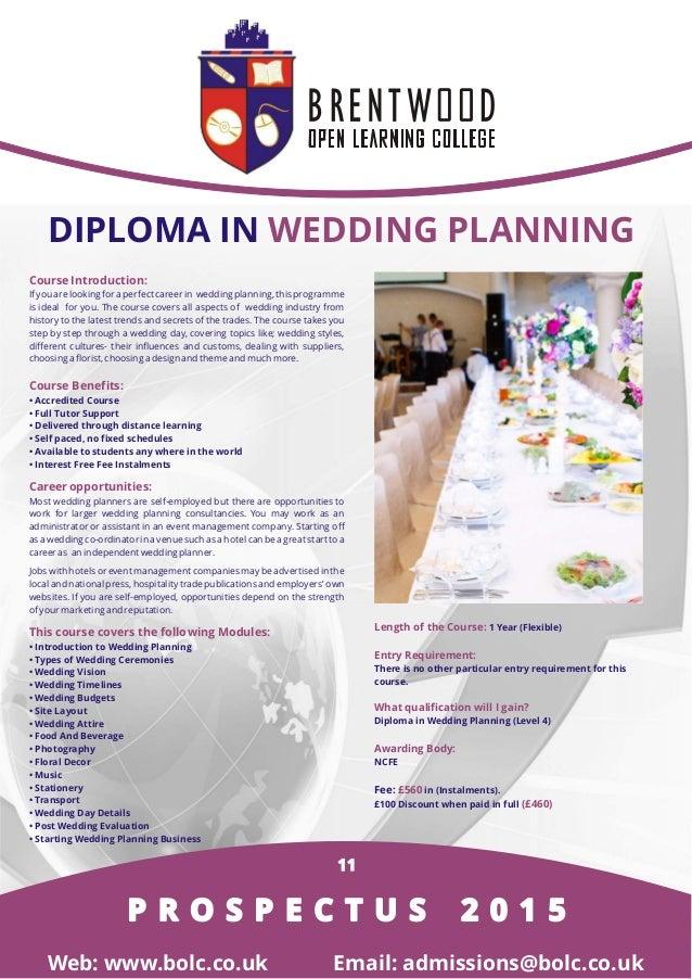 Online Certification: Wedding Planning Online Certification