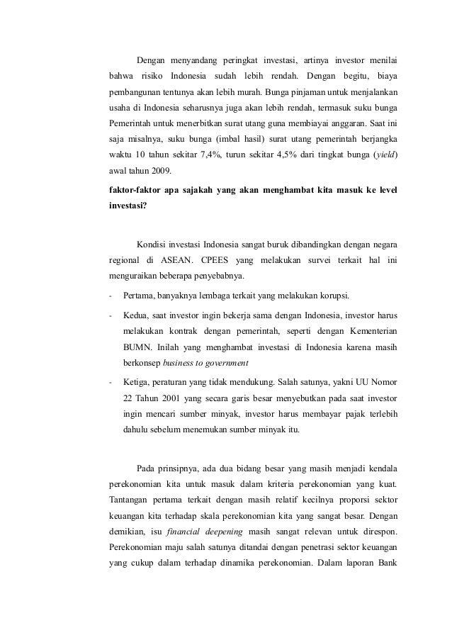 Prospek Perekonomian Indonesia 2011 Menuju Investment Grade