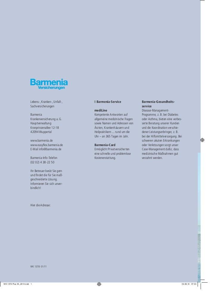 Lebens-, Kranken-, Unfall-,    Barmenia-Service                Barmenia-Gesundheits-Sachversicherungen                    ...