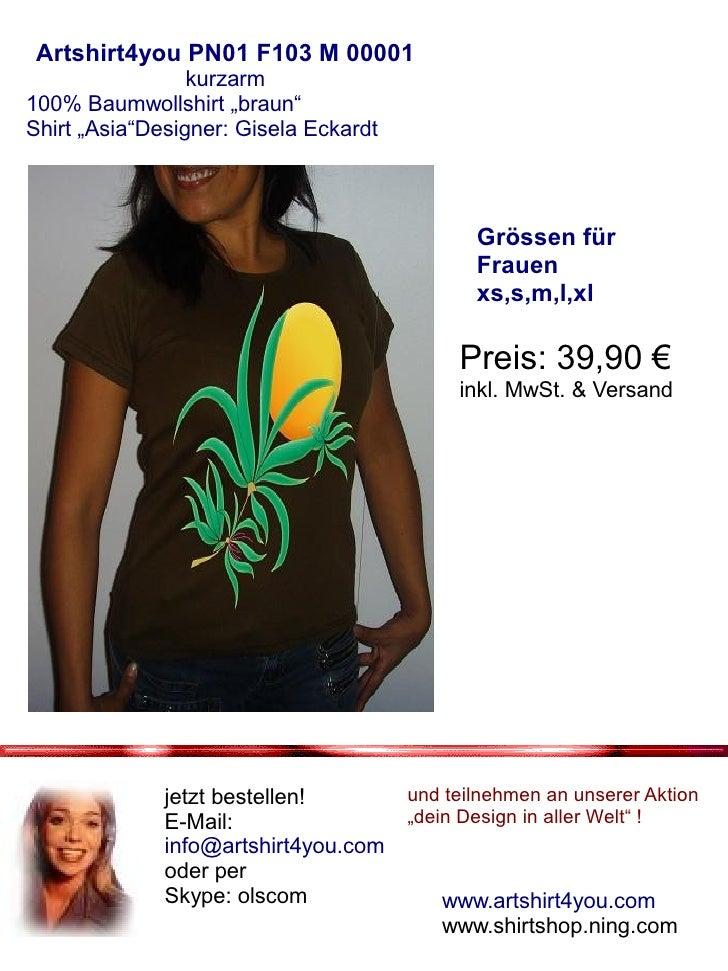 Prospekt kurzarm Shirt Frauen Braun Slide 2