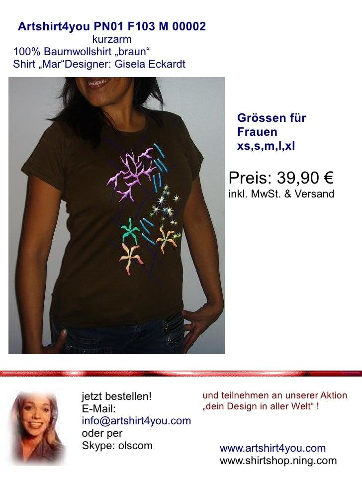 Prospekt kurzarm Shirt Frauen Braun Slide 3