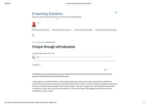 9/28/2015 Prosperthroughselfeducation|ZeeNews http://zeenews.india.com/news/education/prosperthroughselfeducation...