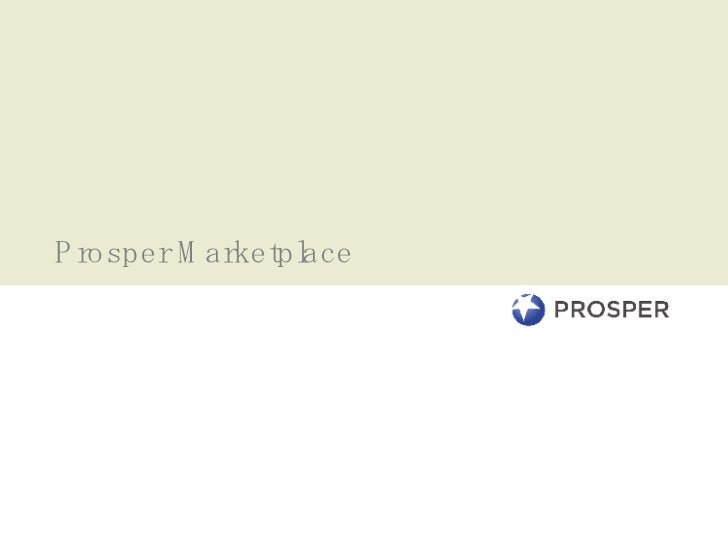 Prosper Marketplace