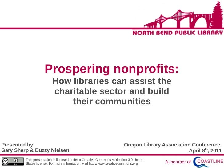 Prospering nonprofits:                          How libraries can assist the                          charitable sector an...