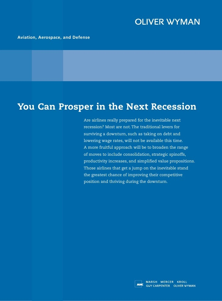 Aviation, Aerospace, and Defense     You Can Prosper in the Next Recession                              Are airlines reall...