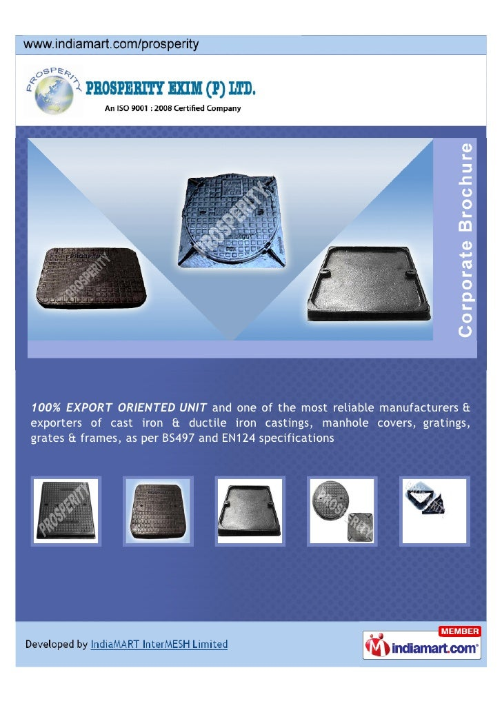 100% EXPORT ORIENTED UNIT and one of the most reliable manufacturers &exporters of cast iron & ductile iron castings, manh...