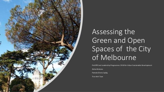 Assessing the Green and Open Spaces of the City of Melbourne ProSPER.net Leadership Programme 2018 for Urban Sustainable D...