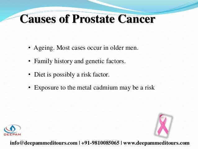 An overview of the causes and treatment of prostate cancer