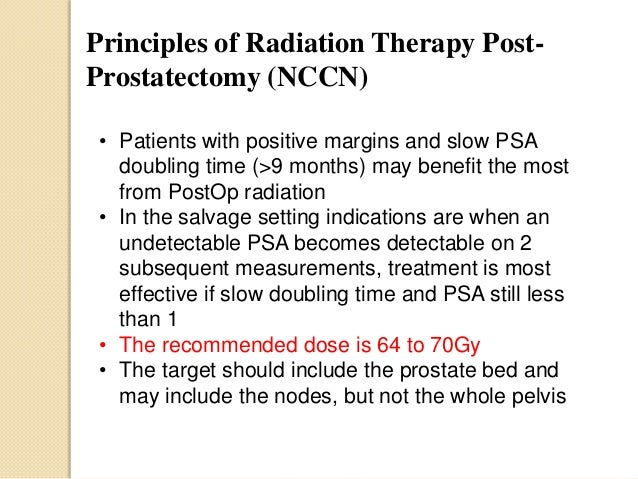 Prostate Cancer And The Role Of Postop Radiation