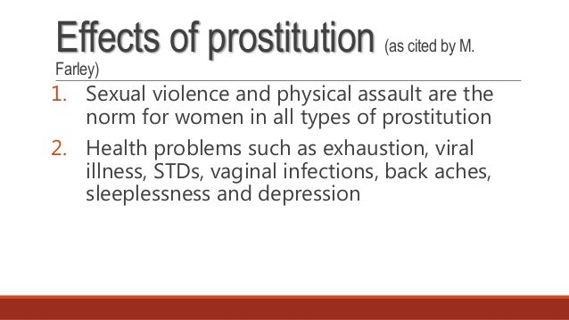 risks of prostitution: when the person is the product