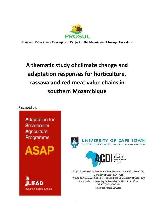 Prosul climate change adaptation thematic study