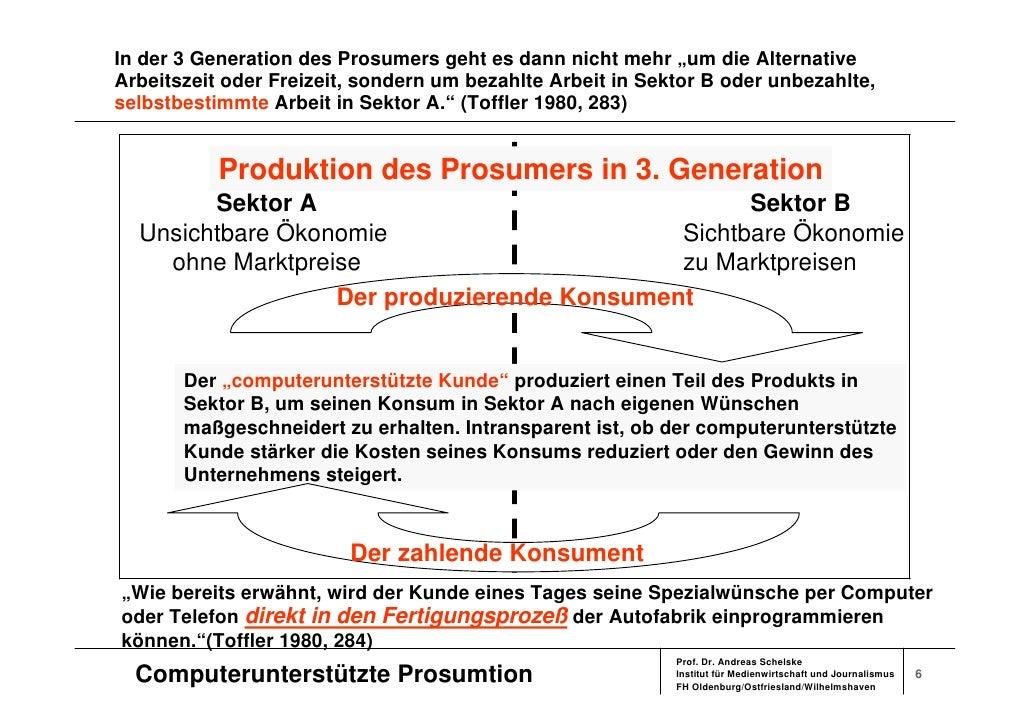 """In der 3 Generation des Prosumers geht es dann nicht mehr """"um die Alternative Arbeitszeit oder Freizeit, sondern um bezahl..."""