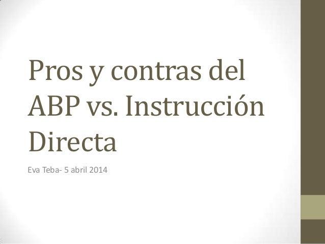 Pros y contras del abp vs id for Hormigon impreso pros y contras