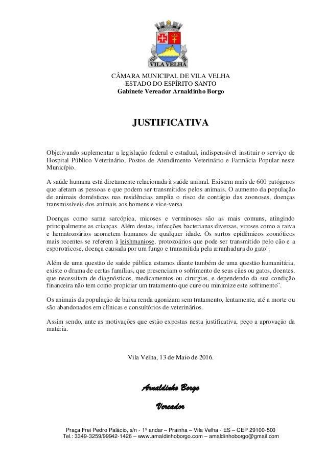 Prot. 1169 16   pl autoriza implantar hospital veterinário municipal e postos municipais de atendimento veterinário  - arnaldinho Slide 2