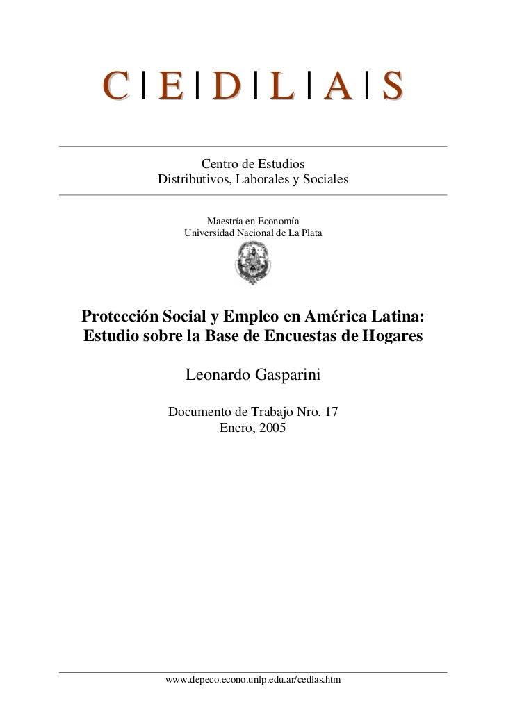 C|E|D|L|A|S                  Centro de Estudios          Distributivos, Laborales y Sociales                    Maestría e...