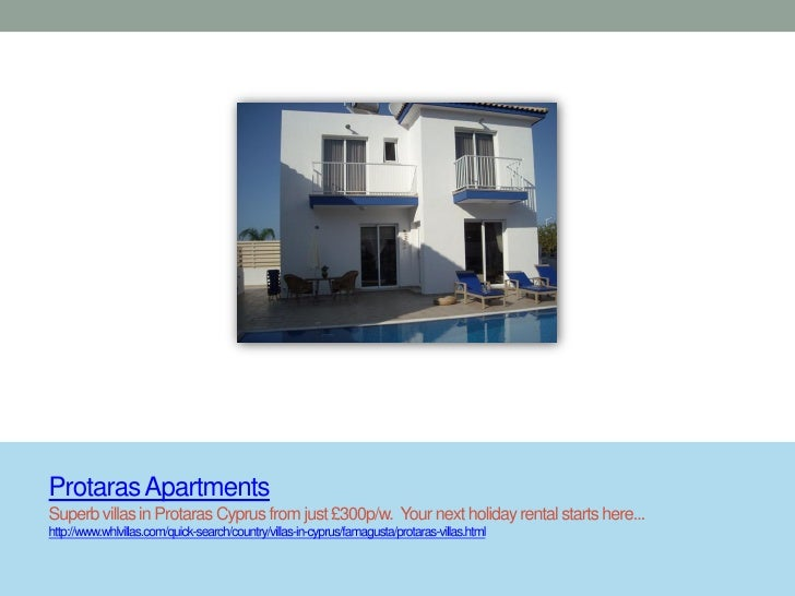 Protaras ApartmentsSuperb villas in Protaras Cyprus from just £300p/w. Your next holiday rental starts here...http://www.w...