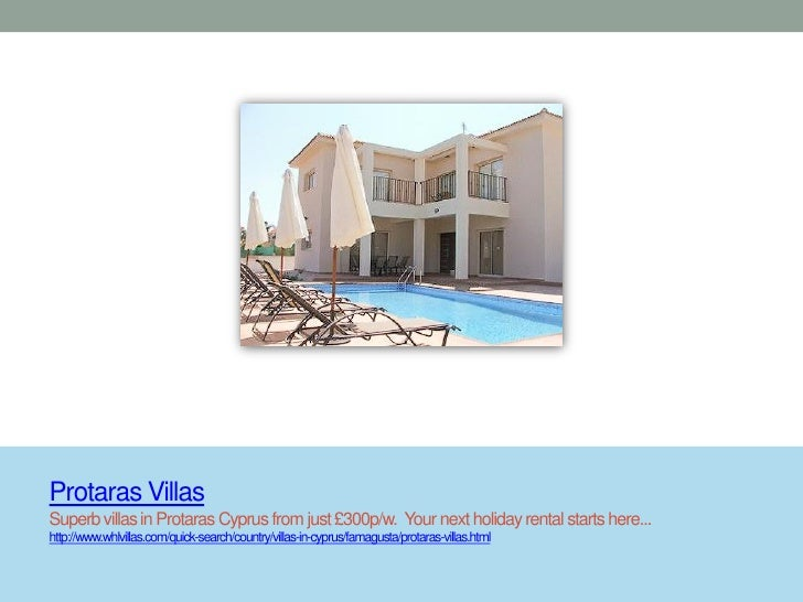 Protaras VillasSuperb villas in Protaras Cyprus from just £300p/w. Your next holiday rental starts here...http://www.whlvi...