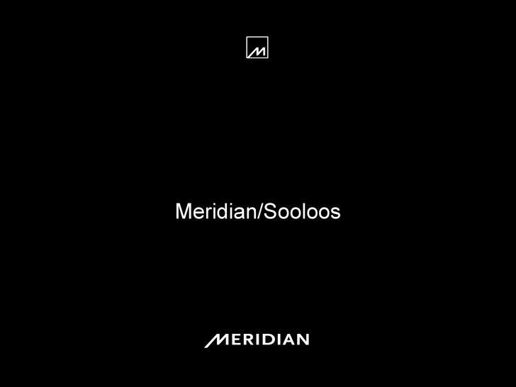 Meridian/Sooloos Sample Presentation Title