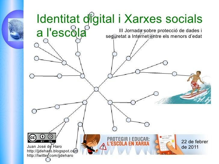 Juan José de Haro http://jjdeharo.blogspot.com  http://twitter.com/jjdeharo III Jornada sobre protecció de dades i seguret...