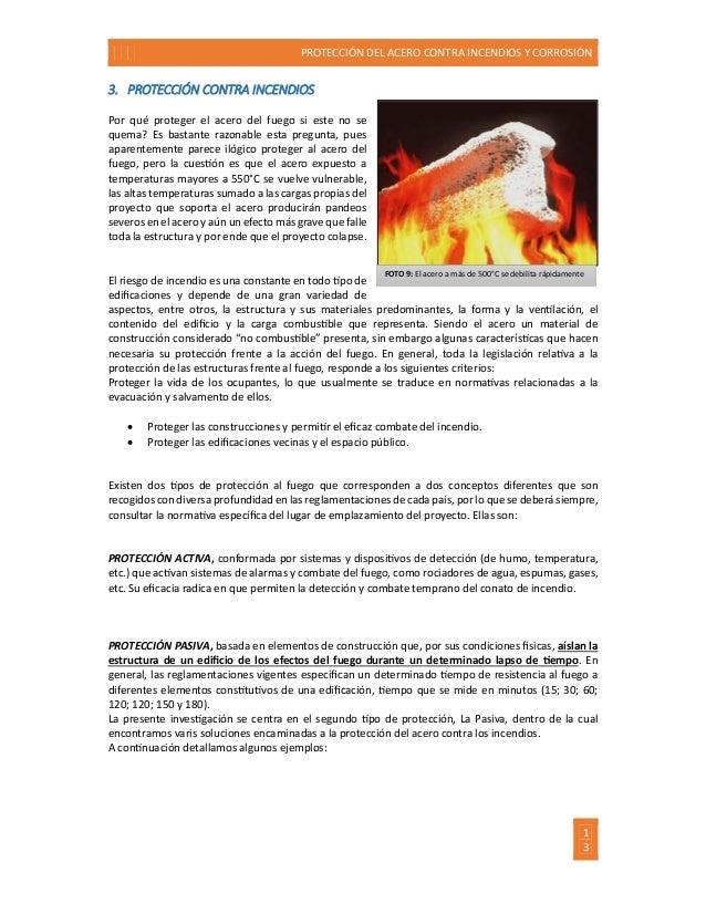Protecci n del acero contra la corrosi n y el fuego for Pinturas proteccion contra incendios