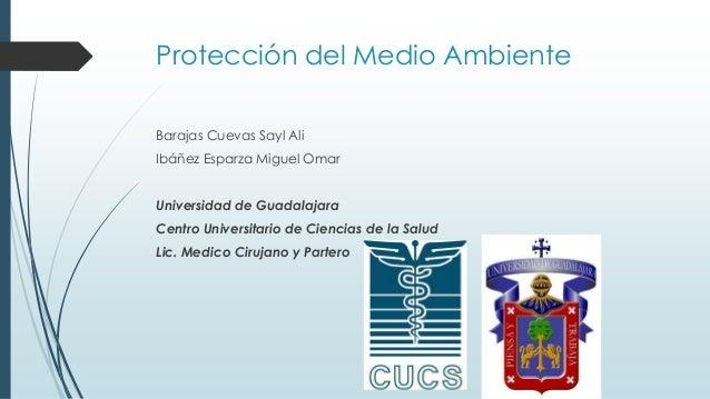 Protección del Medio Ambiente Barajas Cuevas Sayl Ali Ibáñez Esparza Miguel Omar Universidad de Guadalajara Centro Univers...