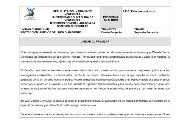 REPÚBLICA BOLIVARIANA DE                                         P.F.G: Estudios Jurídicos                            VENE...
