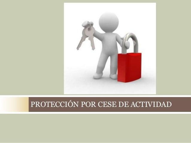 PROTECCIÓN POR CESE DE ACTIVIDAD