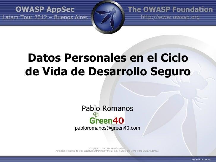 OWASP AppSec                                                                             The OWASP FoundationLatam Tour 20...