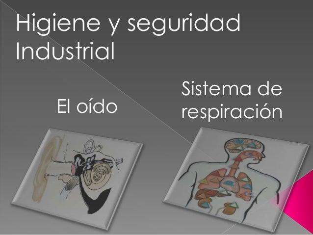 Higiene Del Sistema Respiratorio: Proteccion Del Sistema Respiratorio Y Auditivo En