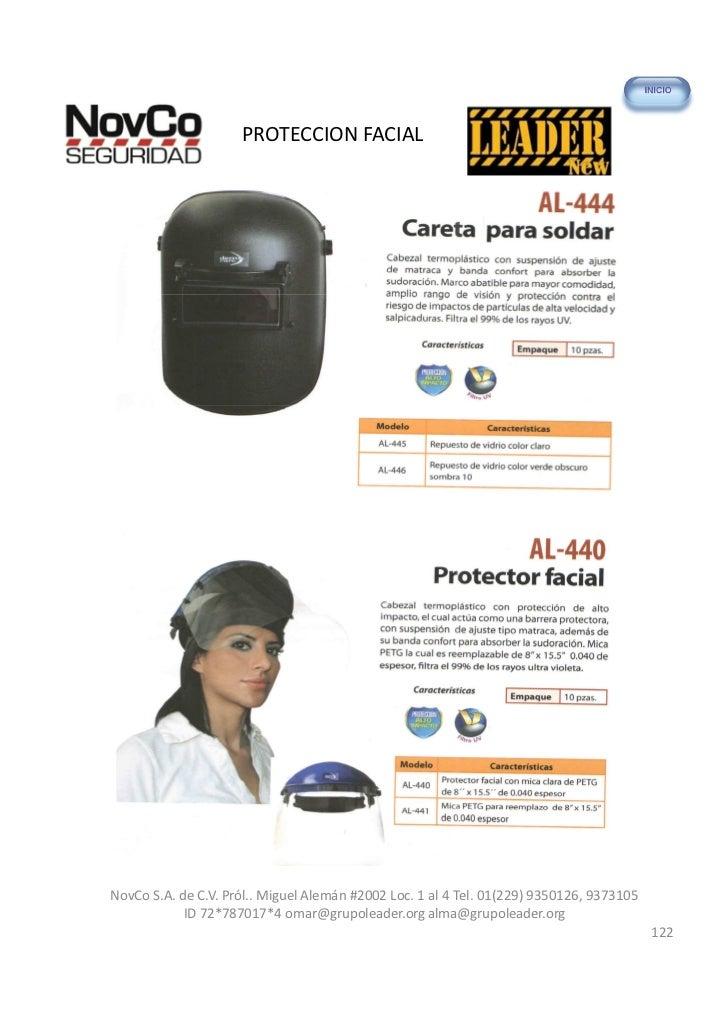 PROTECCION FACIALNovCo S.A. de C.V. Pról.. Miguel Alemán #2002 Loc. 1 al 4 Tel. 01(229) 9350126, 9373105            ID 72*...