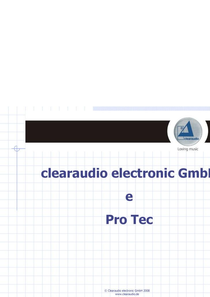 clearaudio electronic GmbH e Pro Tec