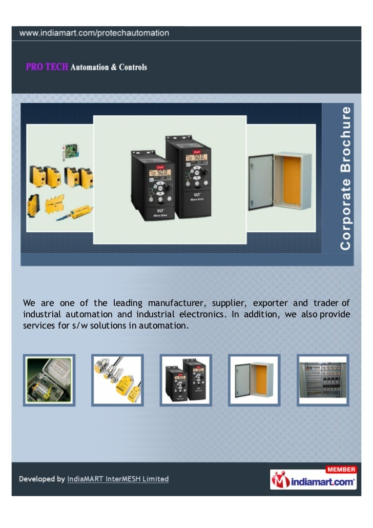 We are one of the leading manufacturer, supplier, exporter and trader ofindustrial automation and industrial electronics. ...