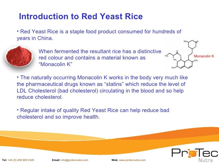 Protec nutra red yeast rice presentation_july 2012