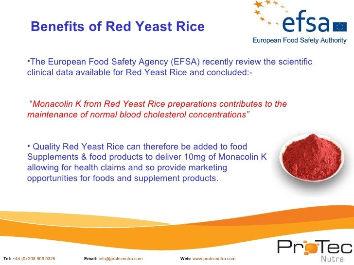 Protec Nutra Red Yeast Rice Presentationjuly 2012