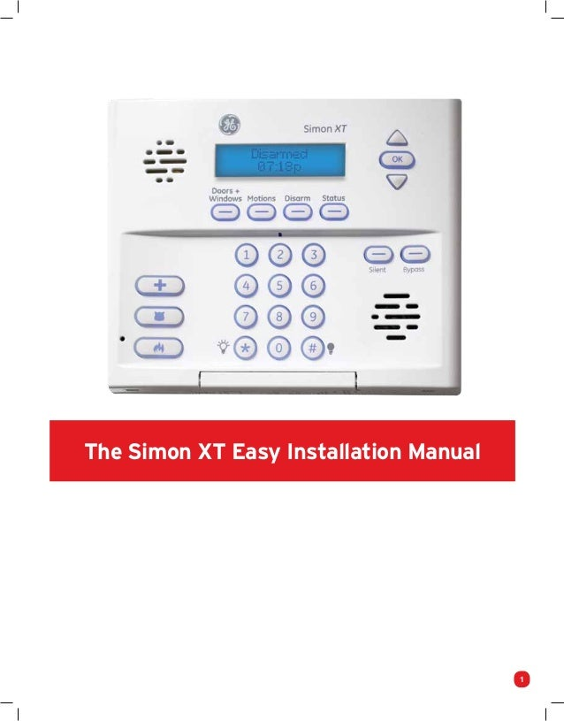 protect america home security systems installation manual and user gu rh slideshare net ge simon xt home security system manual Simon XT User Manual PDF