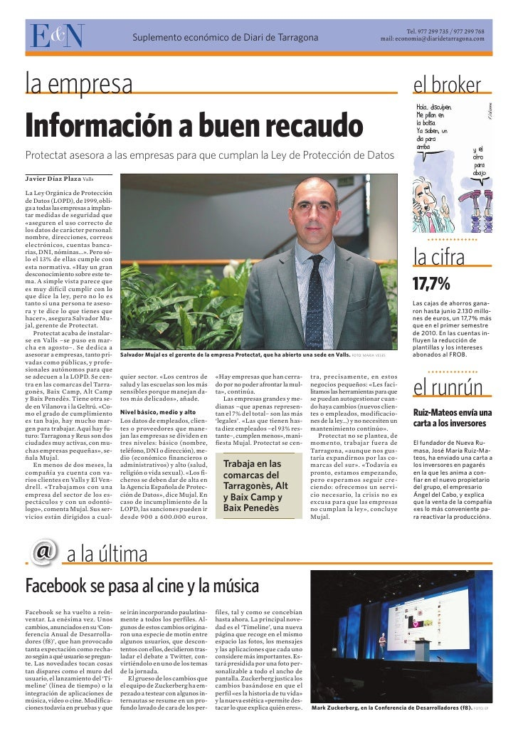 EN      &                              Suplemento económico de Diari de Tarragona                                         ...