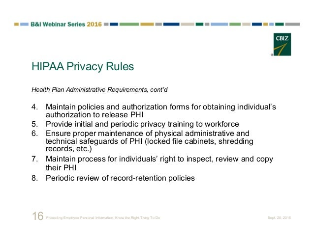 Employee privacy report