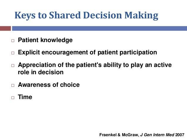 Protecting Informed Decision Making  Slide 3
