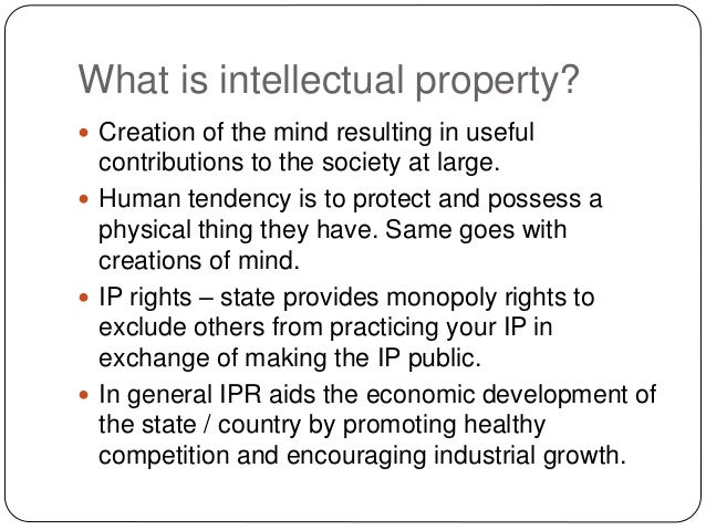 Protect intellectual property rights