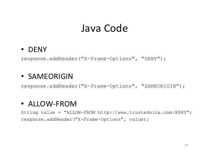 Protecting Java EE Web Apps with Secure HTTP Headers