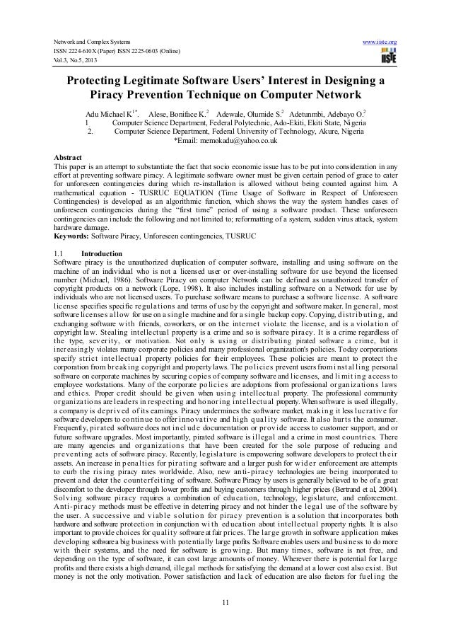 Network and Complex Systems www.iiste.org ISSN 2224-610X (Paper) ISSN 2225-0603 (Online) Vol.3, No.5, 2013 11 Protecting L...