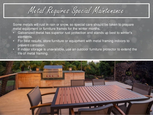 protecting outdoor furniture. 5. To Keep Outdoor Furniture Protecting