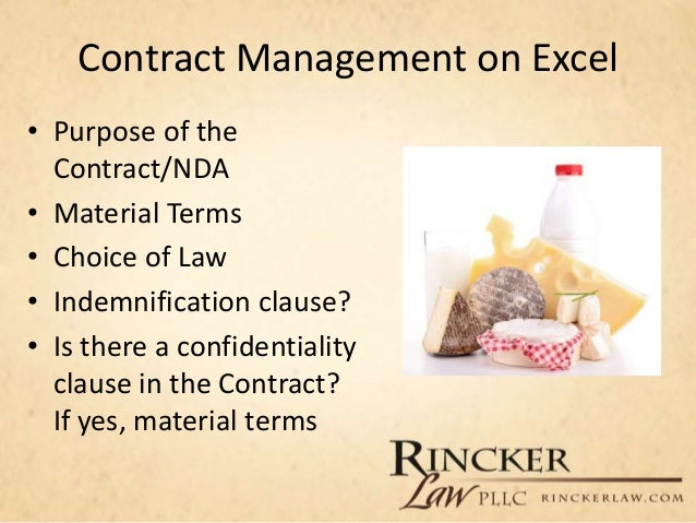 Lawline Presentation Protecting the Agribusiness Managing Contract – Confidentiality Clause Contract