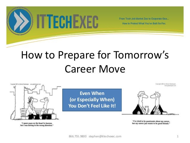 From Tech Job Market Zoo to Corporate Goo... How to Protect What You've Built So Far. How to Prepare for Tomorrow's Career...