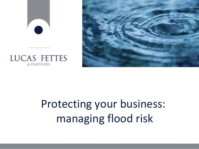 Protecting your business: managing flood risk