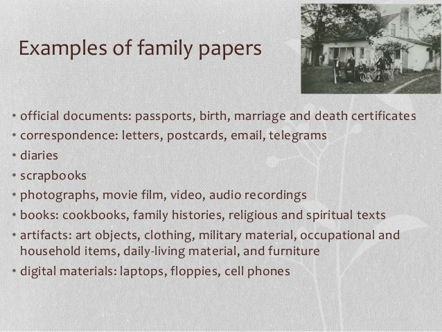 Protecting your family's history