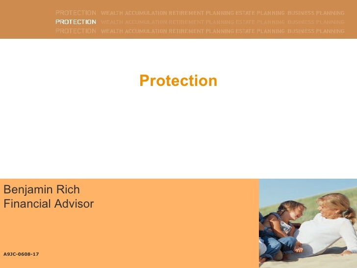 Benjamin Rich Financial Advisor  A9JC-0608-17 Protection