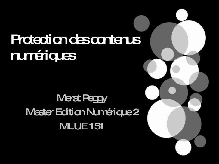 Protection des contenus numériques Merat Peggy Master Edition Numérique 2 MLUE 151