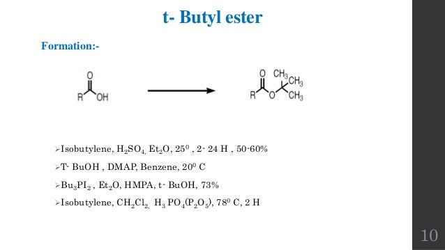 Protection And Deprotection Of Carboxylic Acid